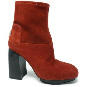 Tory Burch Sidney 105mm Booties Red Burgandy Sz 5